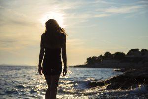 Girl At The Sea